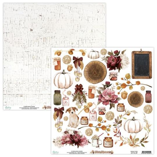 Feuille papier scrapbooking motifs à découper collection Fall Festival MINTAY BY KAROLA
