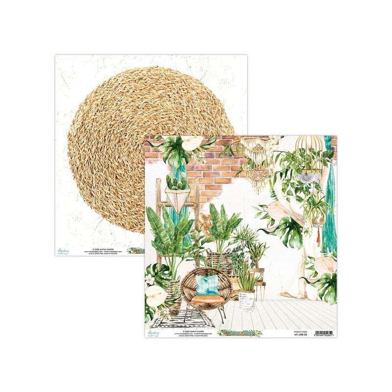 Bloc 12 papiers scrapbooking 30 x 30 collection Urban Jungle MINTAY BY KAROLA