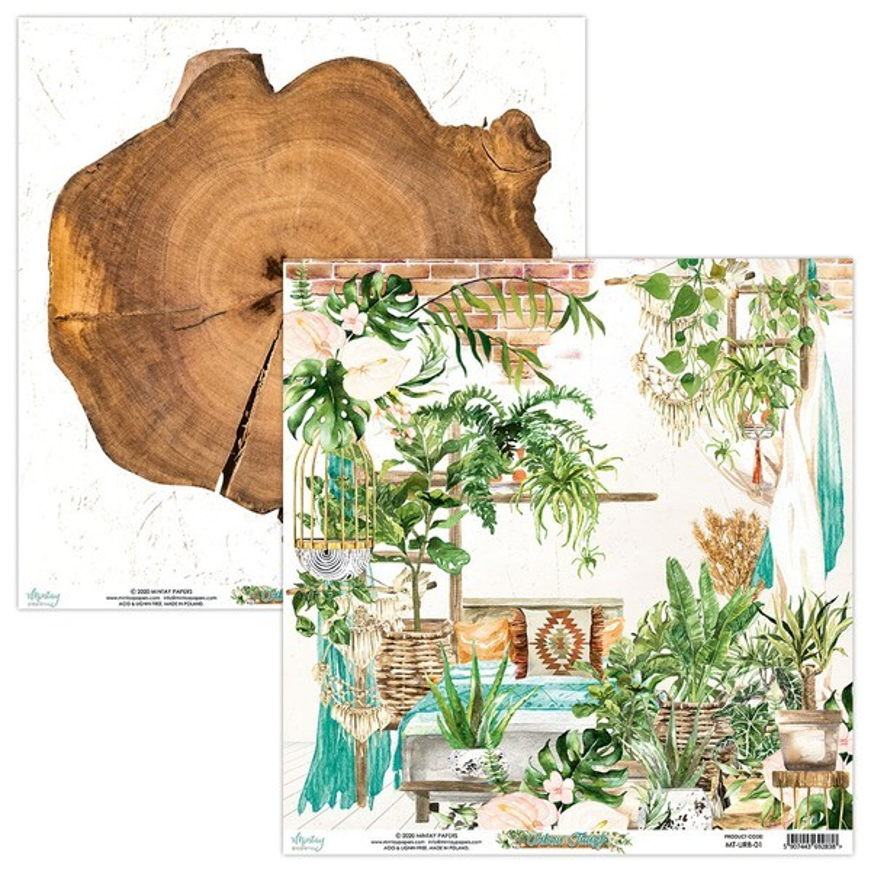Bloc 24 papiers scrapbooking 15 x 15 collection Urban Jungle MINTAY BY KAROLA