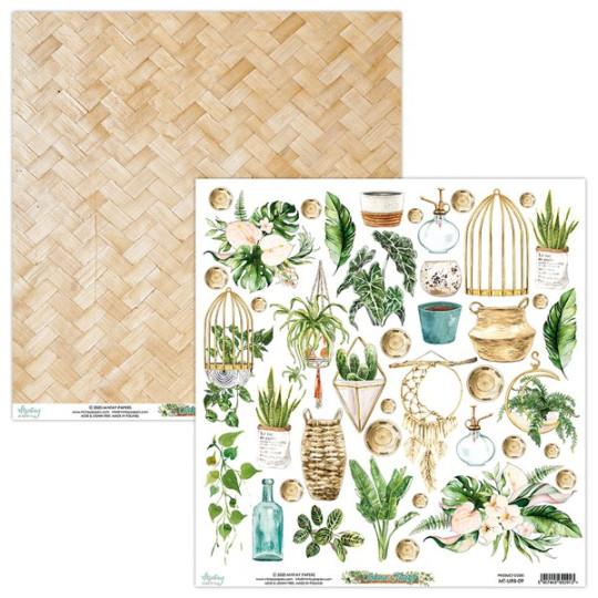 Feuille papier scrapbooking motifs à découper collection Urban Jungle MINTAY BY KAROLA