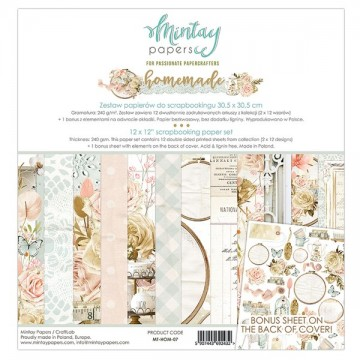 Bloc 12 papiers scrapbooking 30 x 30 collection Homemade MINTAY BY KAROLA