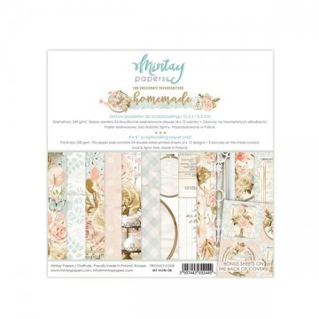 Bloc 24 papiers scrapbooking 15 x 15 collection Homemade MINTAY BY KAROLA
