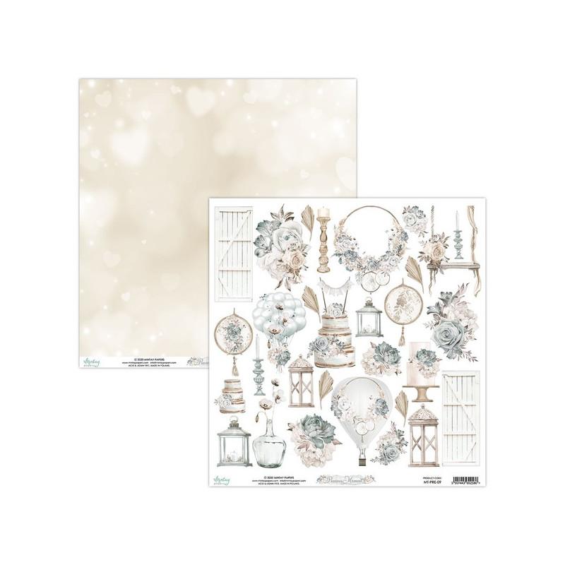 Feuille papier scrapbooking motifs à découper collection Precious Moment MINTAY BY KAROLA