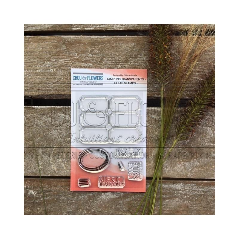 Set 7 tampons polymère Ticket collection Couleur Bohème CHOU & FLOWERS