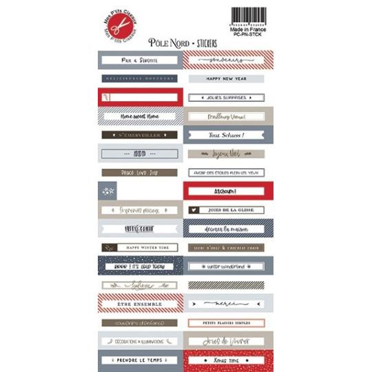 Planche d'étiquettes adhésives collection Pôle Nord MES P'TITS CISEAUX