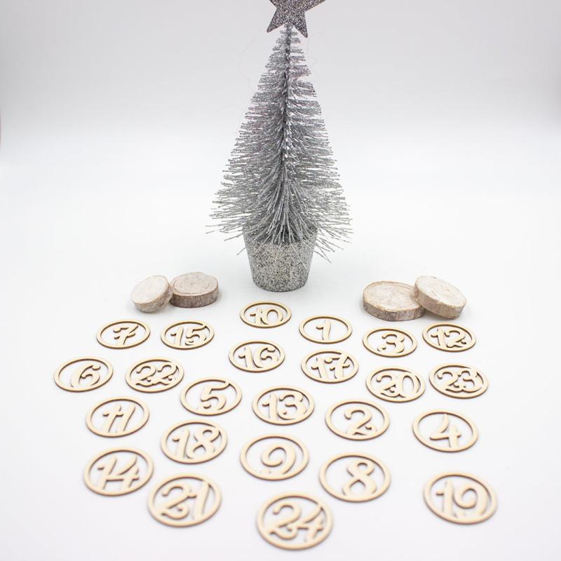 Chiffres ronds pour calendrier de l'avent et December Daily SCRAPMOUSET