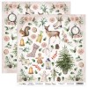 Feuille papier scrapbooking motifs à découper collection Winter Time SCRAPBOYS