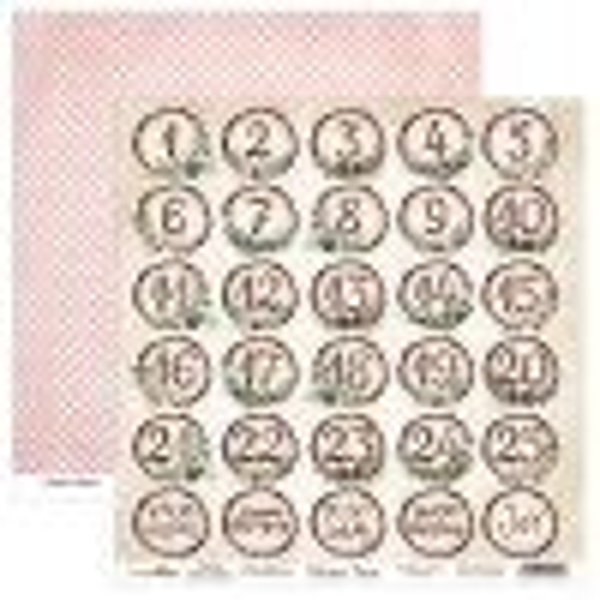 Set de 24 papiers scrapbooking 15 x 15 cm collection Winter Time SCRAPBOYS