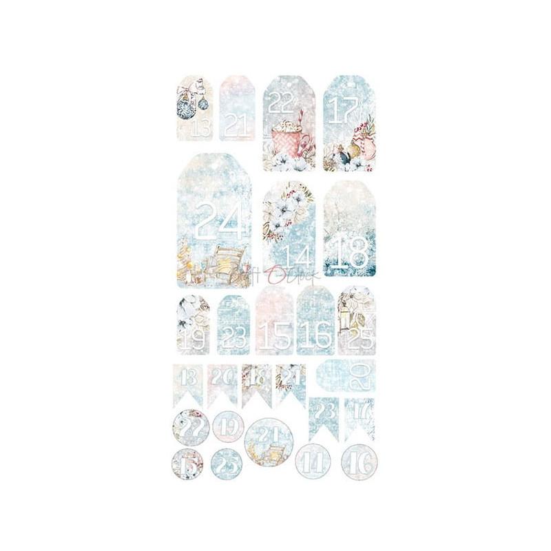 Set papiers scrapbooking Junk Journal extras set collection Frosty Sparking CRAFT O'CLOCK