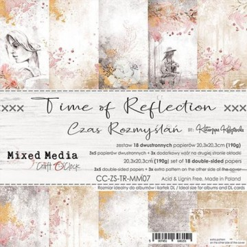 Set 18 papiers scrapbooking 20 x 20 collection Time of Reflection CRAFT O'CLOCK