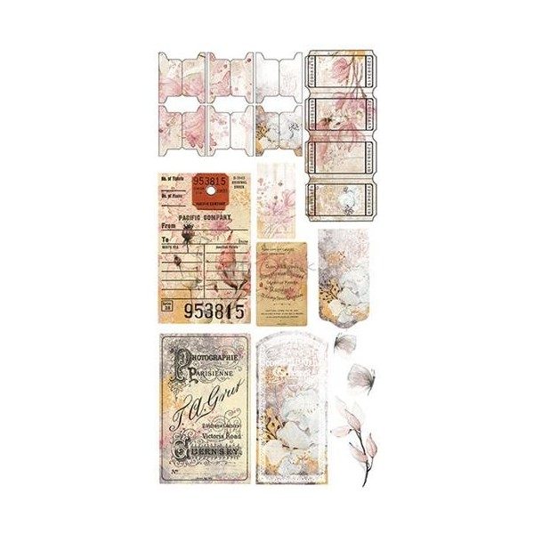 Set papiers scrapbooking Junk Journal extras set collection Time of Reflection CRAFT O'CLOCK
