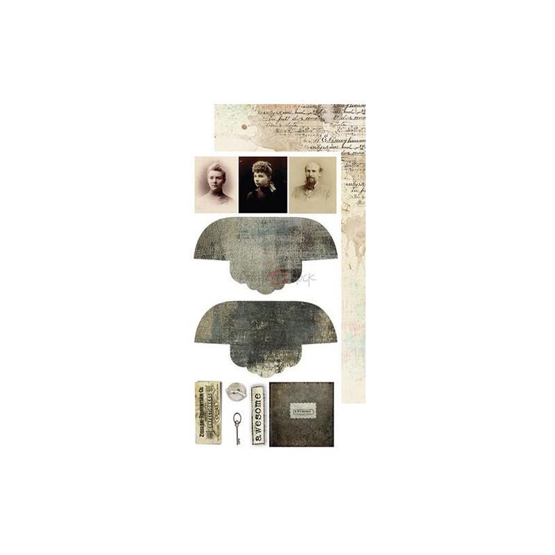 Set papiers scrapbooking Junk Journal extras set collection Fleeting Moments CRAFT O'CLOCK