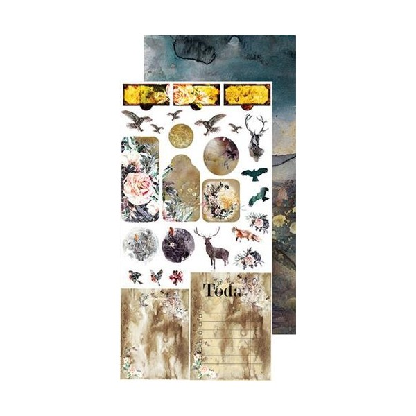 Set papiers scrapbooking Junk Journal extras set collection A Twinkle of Sunrise CRAFT O'CLOCK