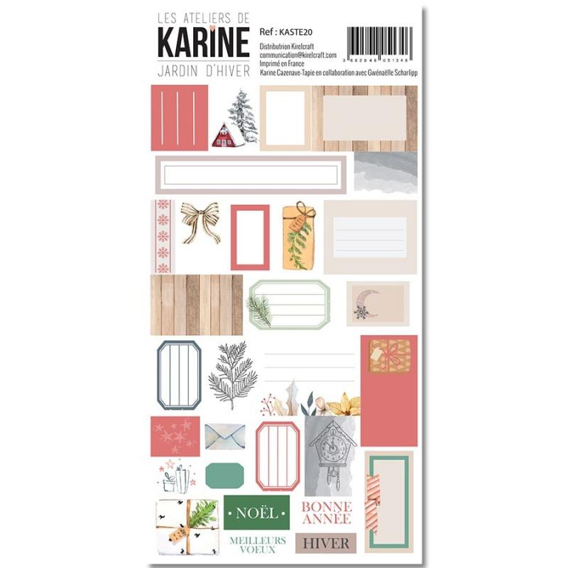 Planche d'étiquettes adhésives Cadres collection Jardin d'Hiver LES ATELIERS DE KARINE