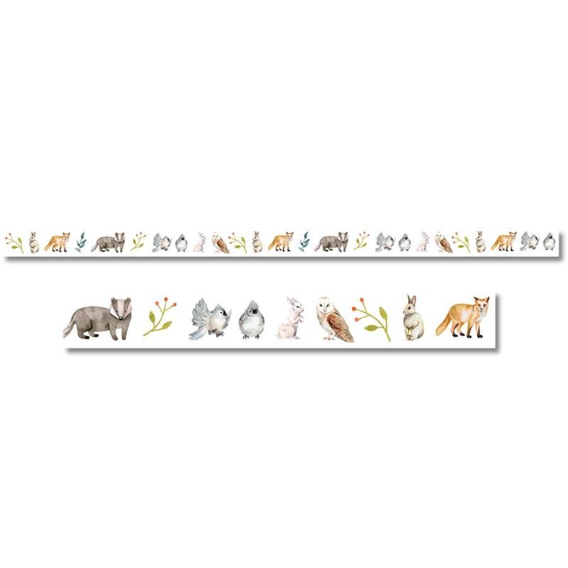 Rouleau masking tape Animaux collection Jardin d'Hiver LES ATELIERS DE KARINE