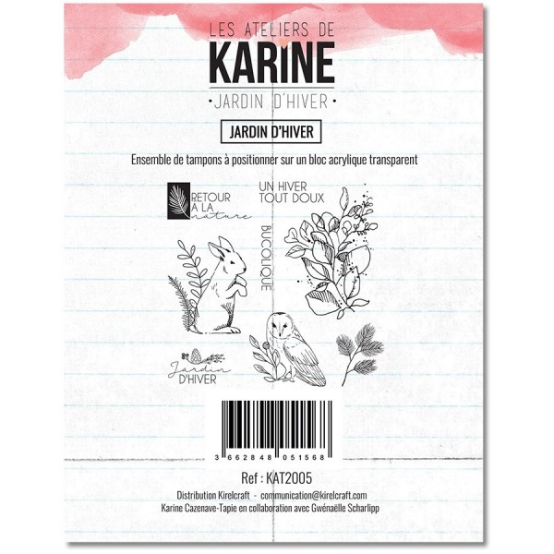 Set 8 tampons polymère Jardin d'Hiver collection Jardin d'Hiver LES ATELIERS DE KARINE