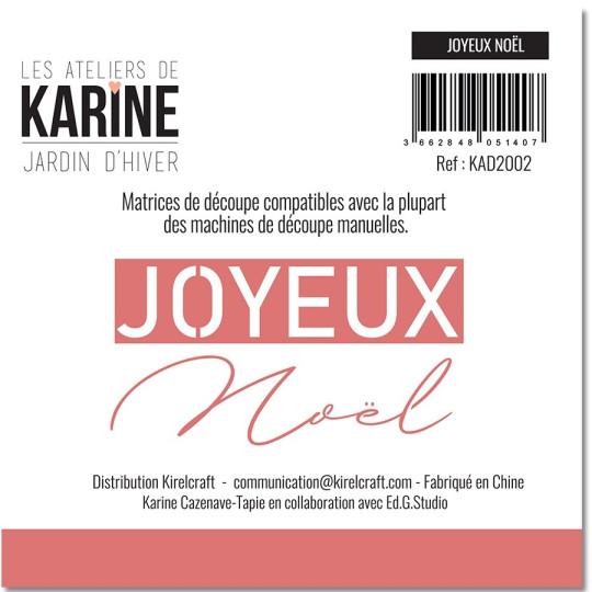 Set 2 matrices de découpe Joyeux Noël collection Jardin d'Hiver LES ATELIERS DE KARINE