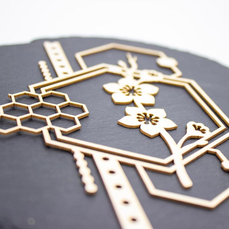 Chipboard Persia avec fleurs de cerisiers, losanges et diverses formes en carton bois SCRAPMOUSET