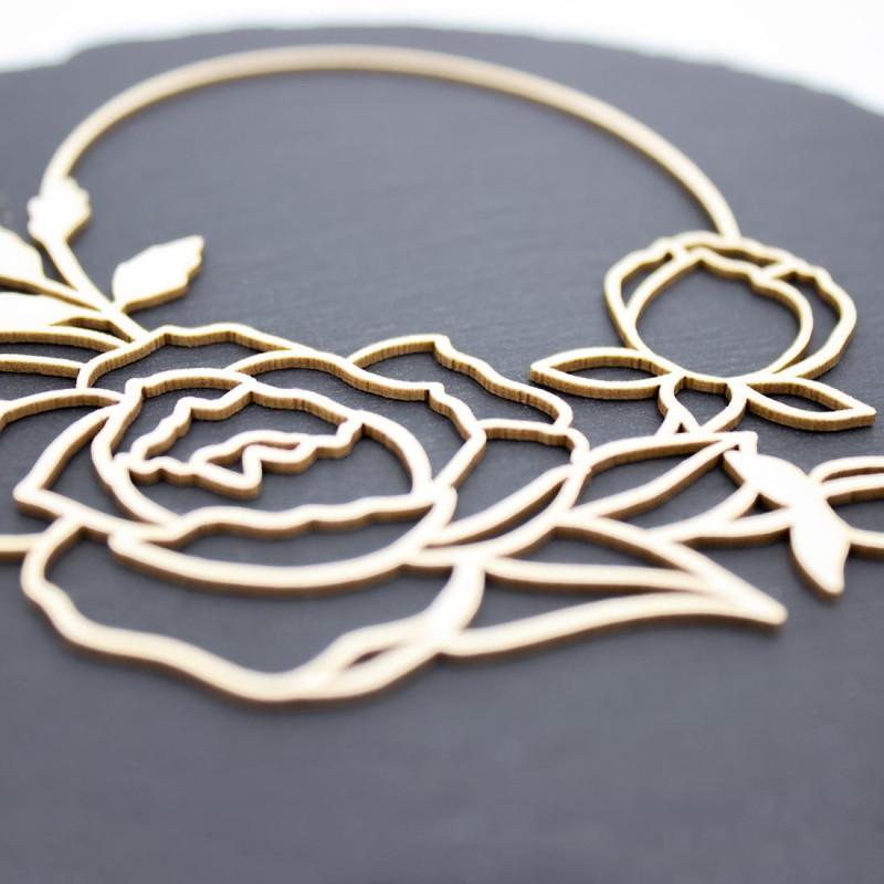 Chipboard cadre Romancia ovale floral en carton bois SCRAPMOUSET