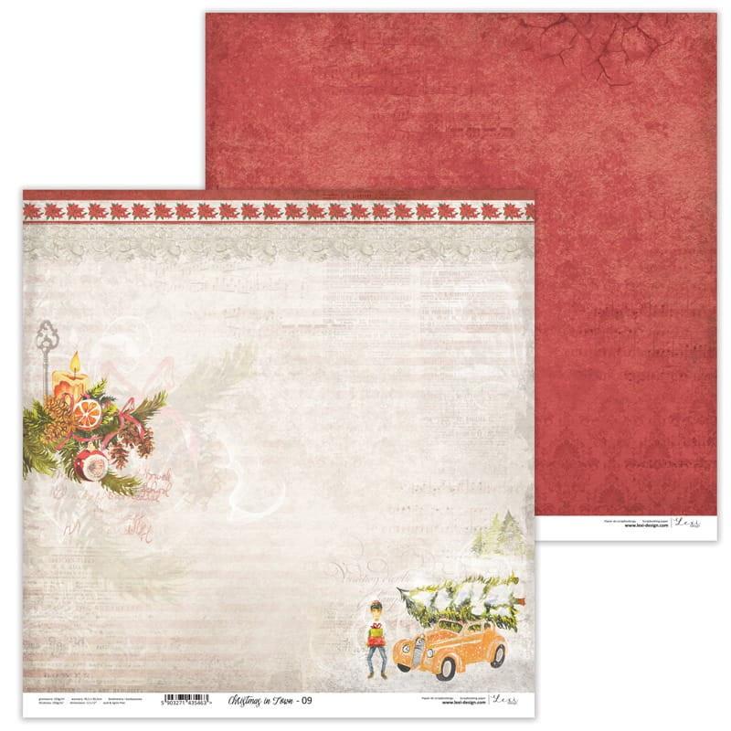 Set de 11 papiers scrapbooking 30 x 30 cm collection Christmas in Town LEXI DESIGN