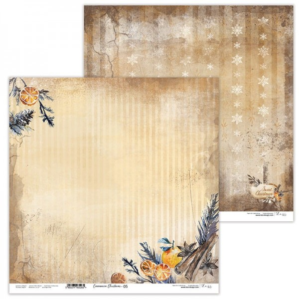 Set de 11 papiers scrapbooking 30 x 30 cm collection Cinnamon Christmas LEXI DESIGN