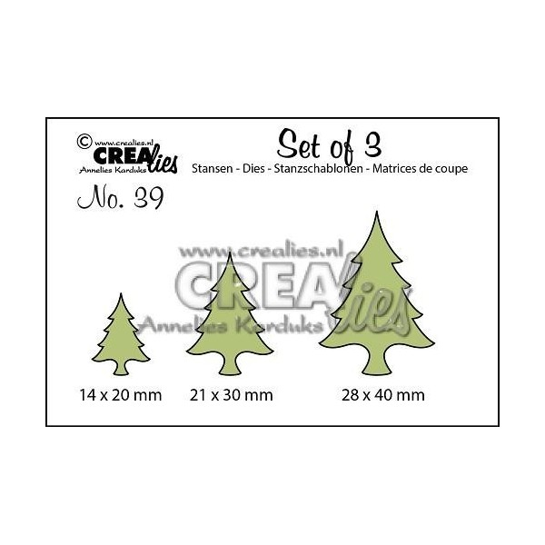 Set 3 matrices de découpe Sapin CREALIES