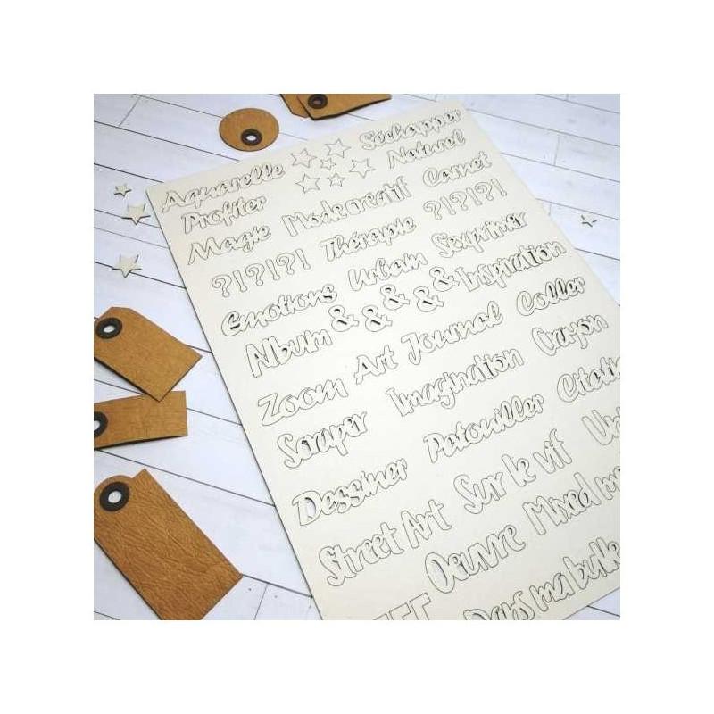 Pack de mots, motifs et tags pour Junk Journal SCRAPMOUSET