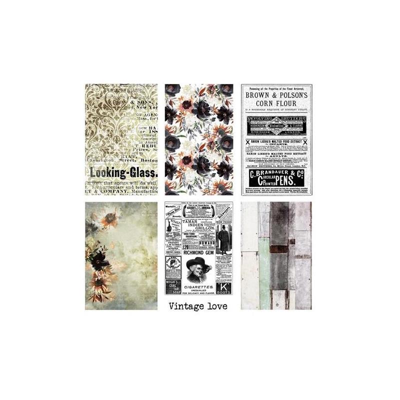 Set 24 papiers scrapbooking motifs à découper Art Book 13ARTS