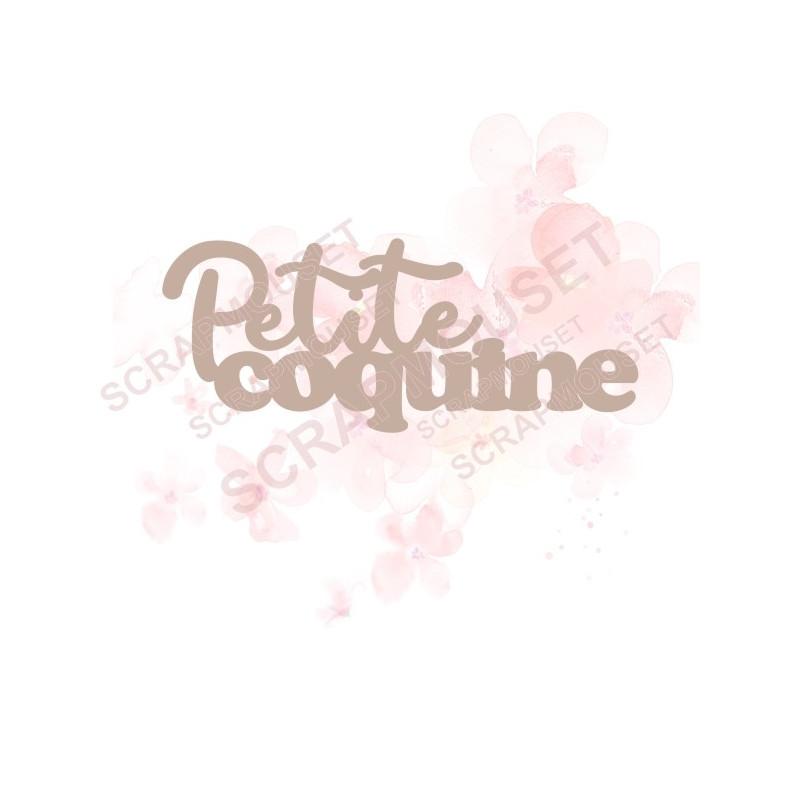 Mot Petite coquine en carton bois SCRAPMOUSET pour scrapbooking et loisirs créatifs