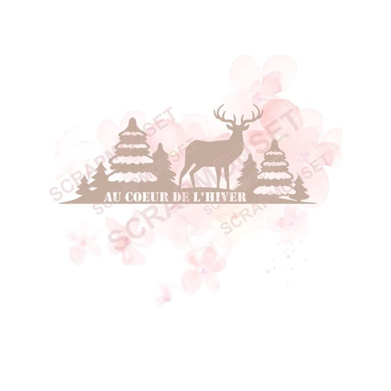 Bordure Au cœur de l'hiver en carton bois SCRAPMOUSET
