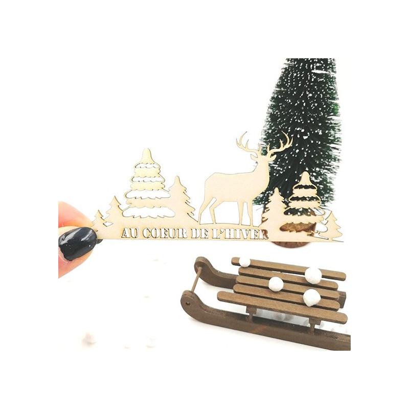 Bordure Au coeur de l'hiver en carton bois SCRAPMOUSET