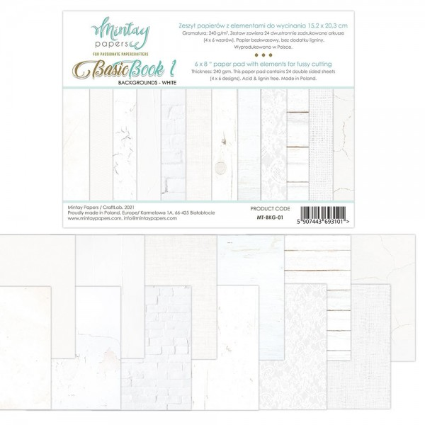 Bloc 24 pages Basic Book 1 Blanc MINTAY BY KAROLA