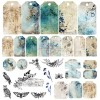 Set 6 papiers scrapbooking 30 x 30 collection Hours of Longing CRAFT O'CLOCK