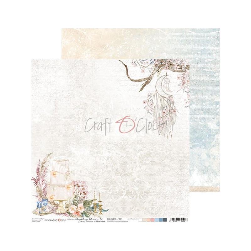 Set 6 papiers scrapbooking 30 x 30 collection Wedding Dream CRAFT O'CLOCK