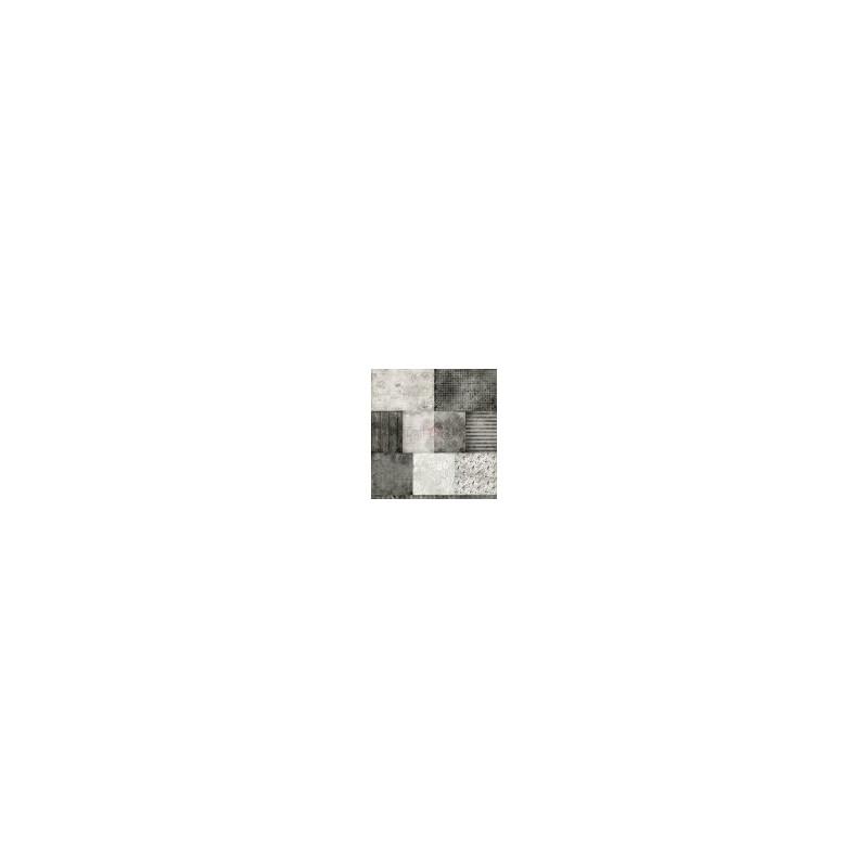 Set 6 papiers scrapbooking 30 x 30 collection Gray Mood CRAFT O'CLOCK