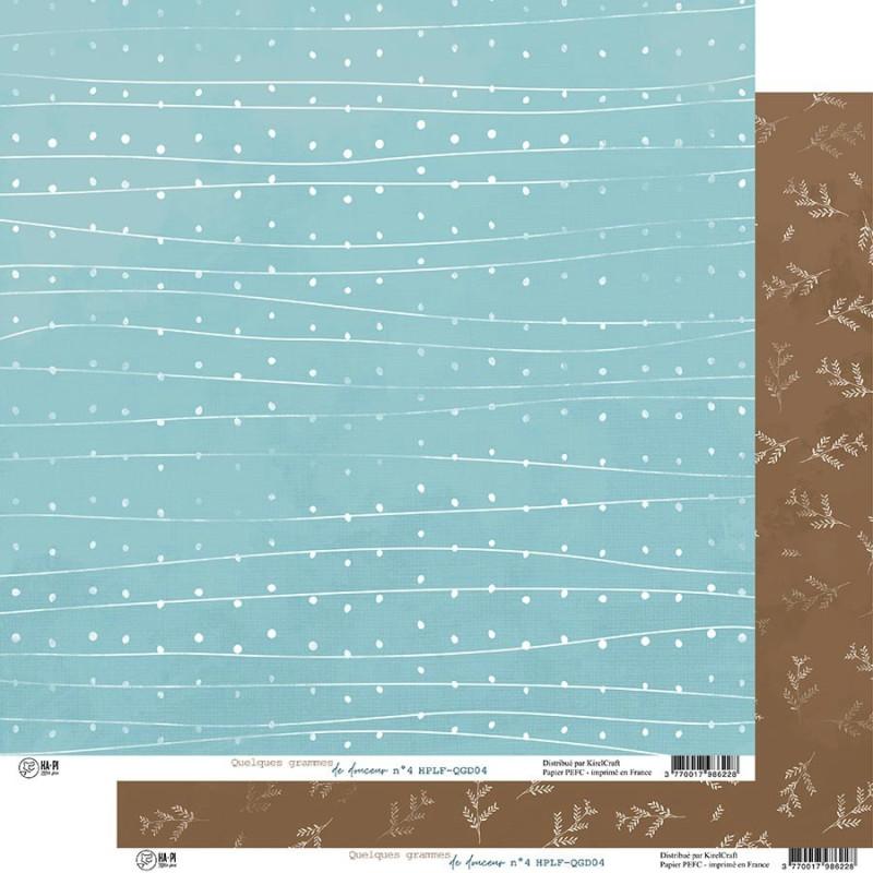 Set 6 papiers scrapbooking 30 x 30 collection Quelques grammes de douceur HA.PI LITTLE FOX