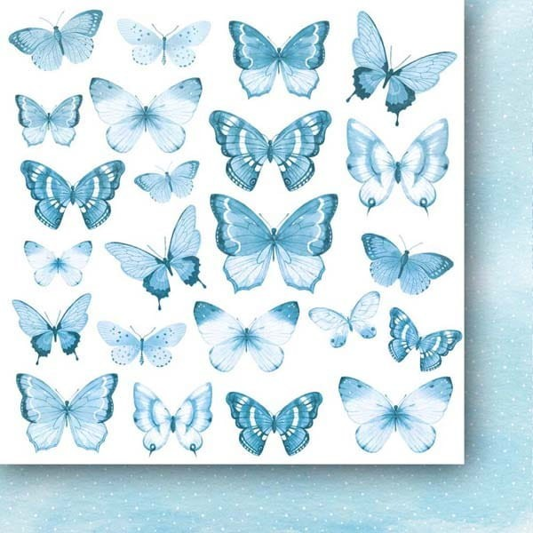 Set 24 papiers scrapbooking 15 x 15 collection A walk in the clouds Flowers PAPER HEAVEN