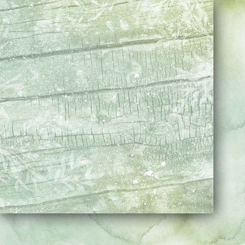 Set 24 papiers scrapbooking 15 x 15 collection Beyond the mist PAPER HEAVEN