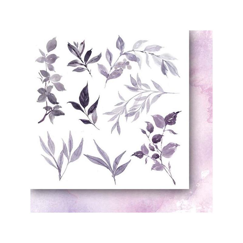 Set 24 papiers scrapbooking 15 x 15 collection Beyond the mist Flowers PAPER HEAVEN