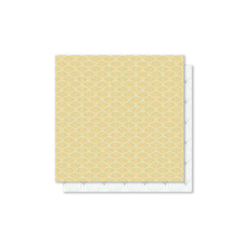 Set 6 papiers scrapbooking 30 x 30 collection French Kiss MES P'TITS CISEAUX