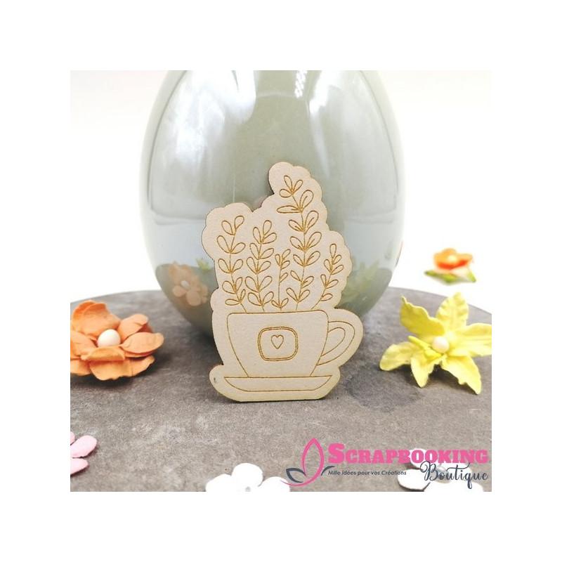 Lot de 3 chipboards pots fleuris de Pâques SCRAPMOUSET
