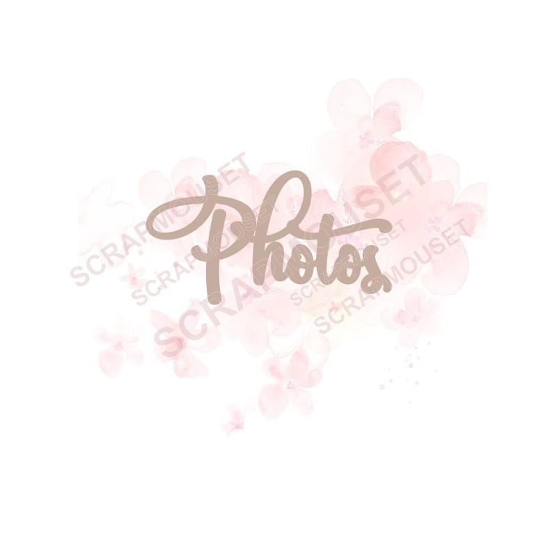 Mot Photos en carton bois SCRAPMOUSET