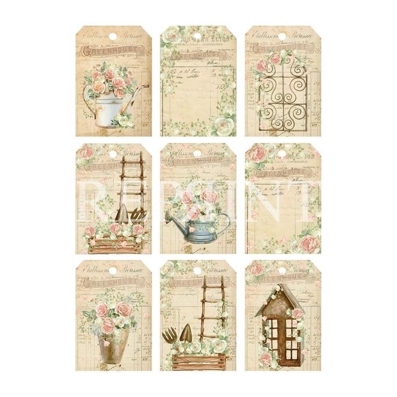 Set 10 papiers scrapbooking A4 collection Vintage Garden REPRINT