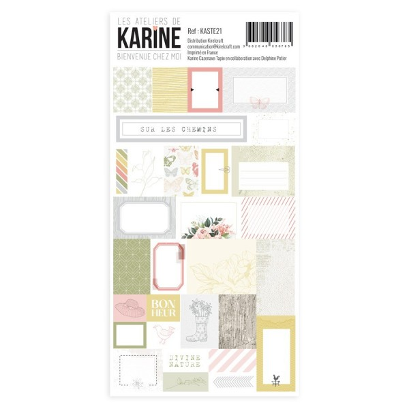 Planche d'étiquettes adhésives Bienvenue chez moi LES ATELIERS DE KARINE