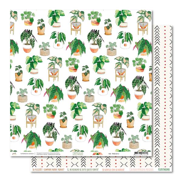 Set 6 papiers scrapbooking 30 x 30 collection Greenhouse PAPENOVA DESIGN