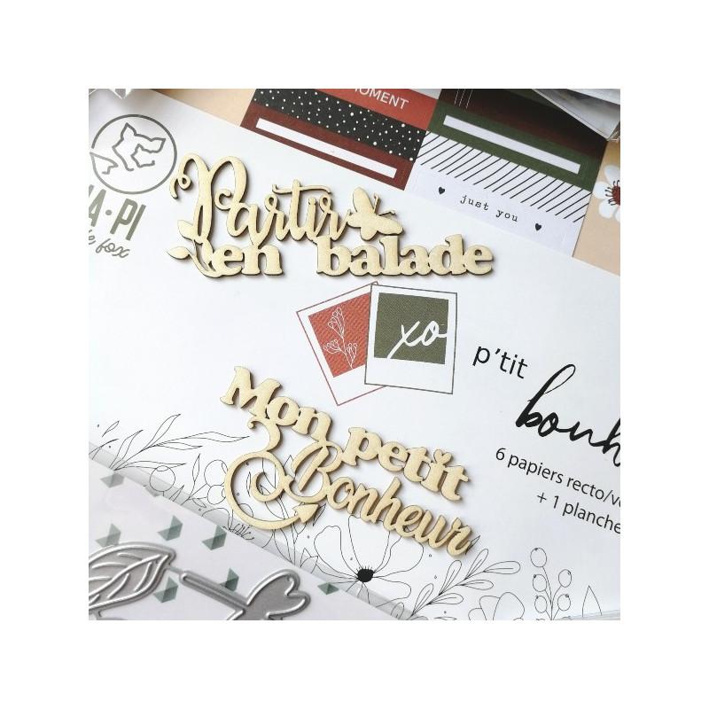 Set 6 papiers scrapbooking 30 x 30 collection P'tit bonheur du jour HA.PI LITTLE FOX