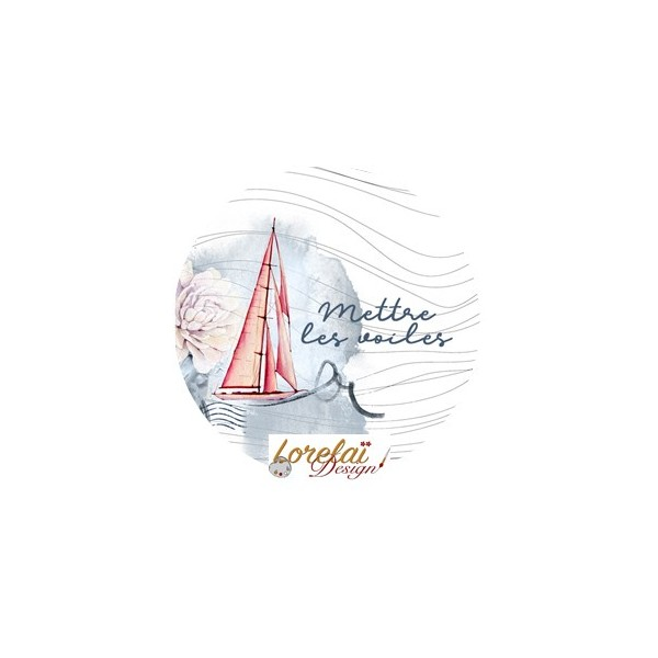 Badge Mettre les voiles collection A contre courant LORELAÏ DESIGN