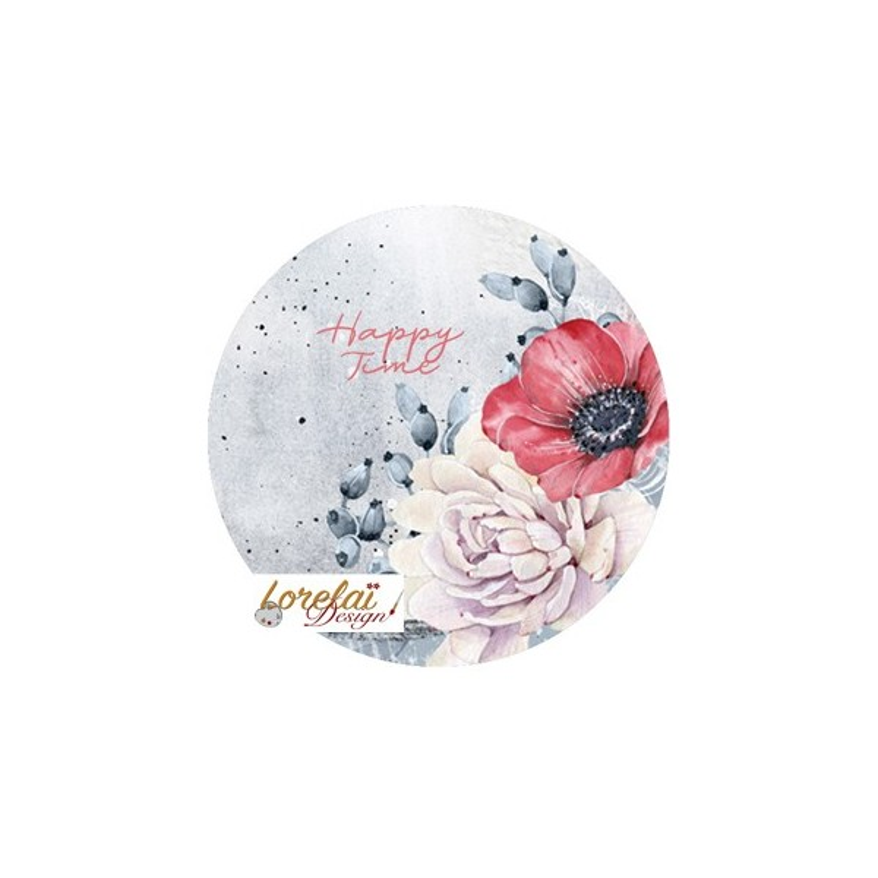 Badge Happy time collection A contre courant LORELAÏ DESIGN