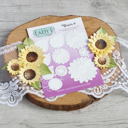 Set de 10 matrices de découpe Flower 11 LADY E DESIGN