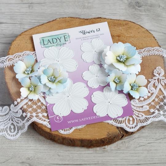 Set de 5 matrices de découpe Flower 12 LADY E DESIGN
